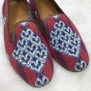 Stubbs & Wootton Woven Pattern Flat Loafers